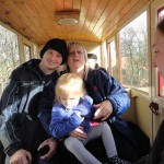 People in a train carriage