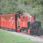 Red steam train