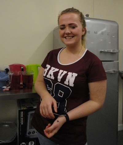 volunteer in kitchen